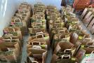 The care parcels and food vouchers, were oragnised through a partnership with Spar, WWF South Africa Coca Cola South Africa, Flanders' South Africa, BMZ, Gift of the Givers and the DEFF